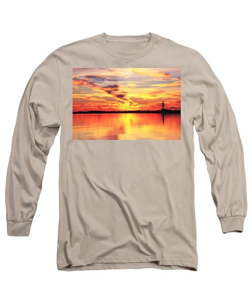 Long Sleeve T-Shirt featuring the photograph Provincetown Harbor Sunset by Roupen  Baker