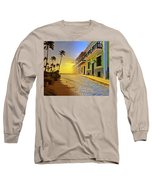Puerto Rico Collage 2 Long Sleeve T-Shirt by Stephen Anderson