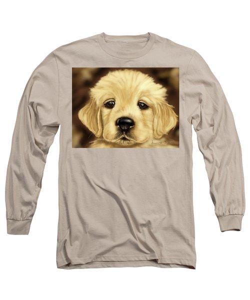 Puppy Long Sleeve T-Shirt by Veronica Minozzi