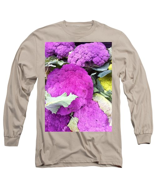 Purple Cauliflower Long Sleeve T-Shirt by Susan Garren