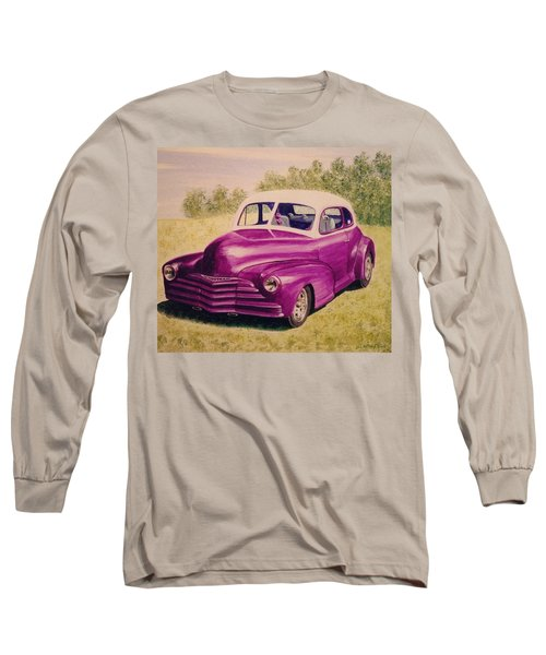 Purple Chevrolet Long Sleeve T-Shirt by Stacy C Bottoms