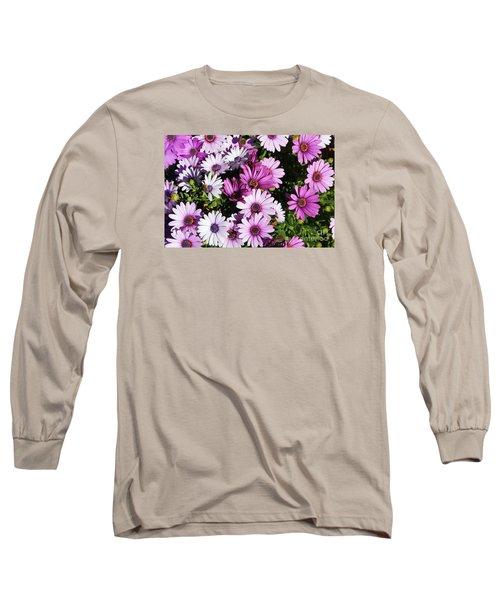 Purple Daisy Long Sleeve T-Shirt