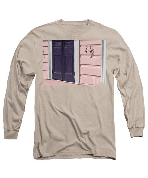 Purple Door Long Sleeve T-Shirt by Valerie Reeves