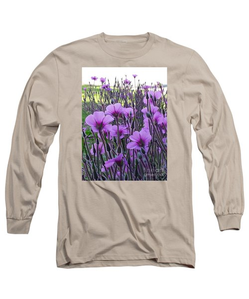 Long Sleeve T-Shirt featuring the photograph Purple Field by Jasna Gopic