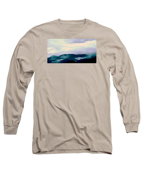 Purple Mountains Majesty Blue Ridge Mountains Long Sleeve T-Shirt