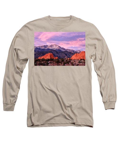 Purple Skies Over Pikes Peak Long Sleeve T-Shirt by Ronda Kimbrow
