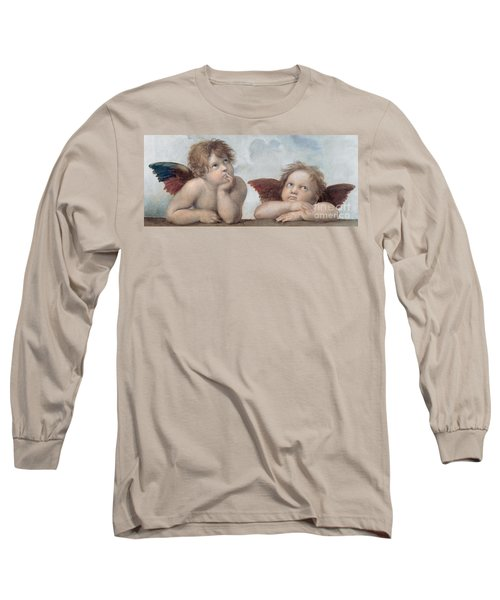 Putti Detail From The Sistine Madonna Long Sleeve T-Shirt