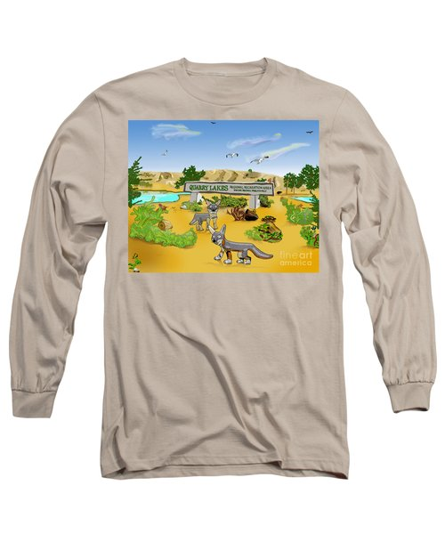Quarry Lakes And Gray Foxes Long Sleeve T-Shirt