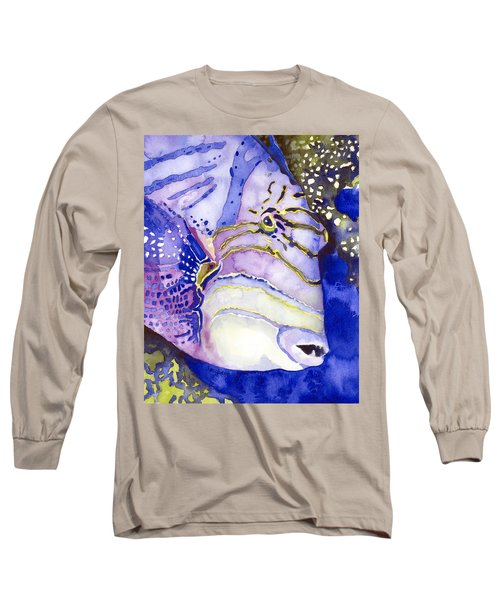 Queen Triggerfish Portrait Long Sleeve T-Shirt
