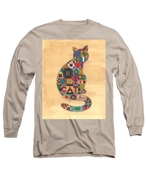 Quilted Cat Long Sleeve T-Shirt