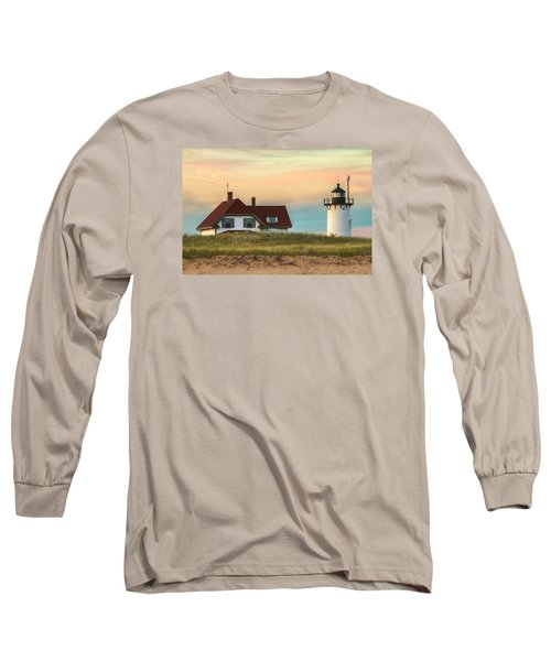 Race Point Light At Sunset Long Sleeve T-Shirt by Brian Caldwell