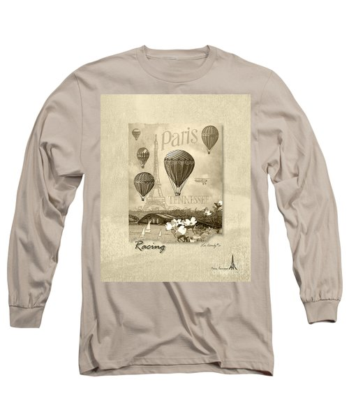 Racing In Sepia Long Sleeve T-Shirt