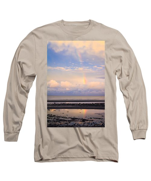 Long Sleeve T-Shirt featuring the photograph Rainbow Over Bramble Bay by Peta Thames