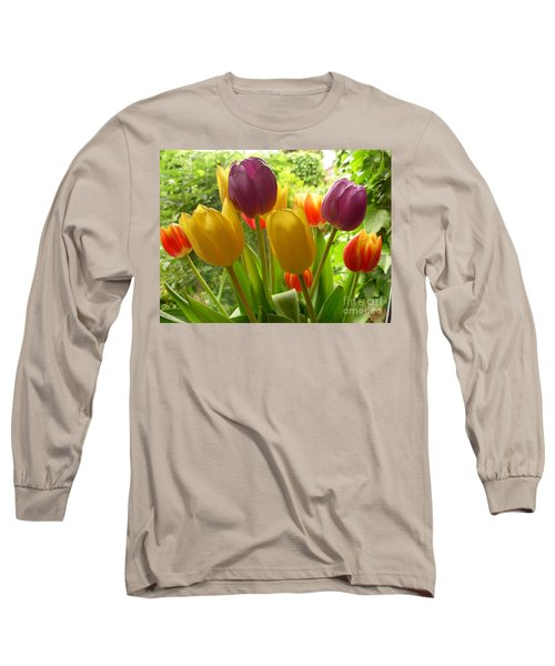 Rainbow Tulips  Long Sleeve T-Shirt