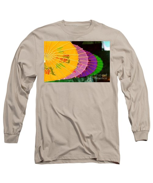Long Sleeve T-Shirt featuring the photograph New Orleans Rainbowellas by Michael Hoard