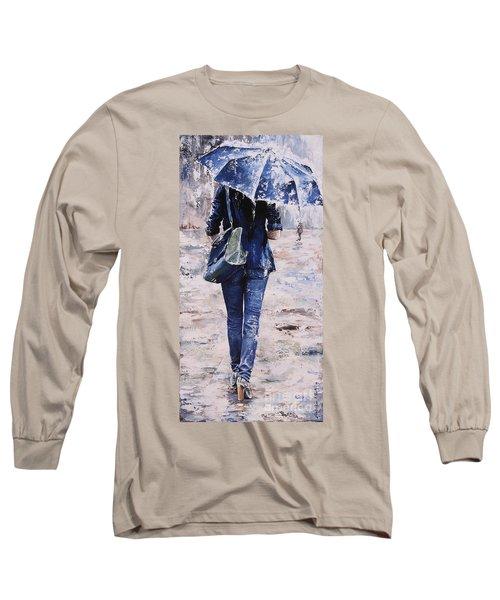 Rainy Day #22 Long Sleeve T-Shirt by Emerico Imre Toth