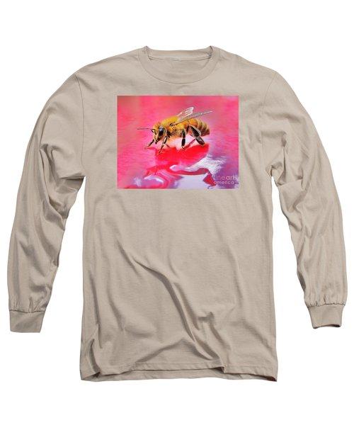 Rainy Day Bee Long Sleeve T-Shirt by John King