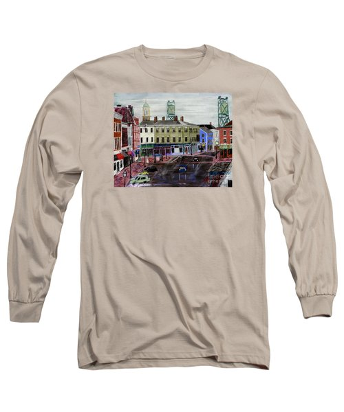 Rainy Day On Market Square Long Sleeve T-Shirt