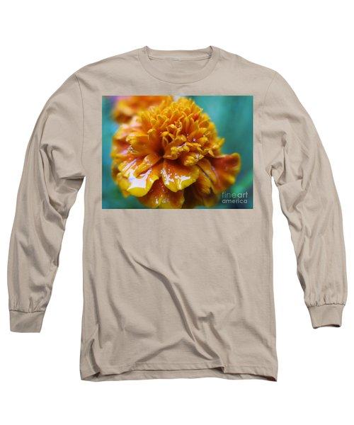 Rainy Marigolds Long Sleeve T-Shirt
