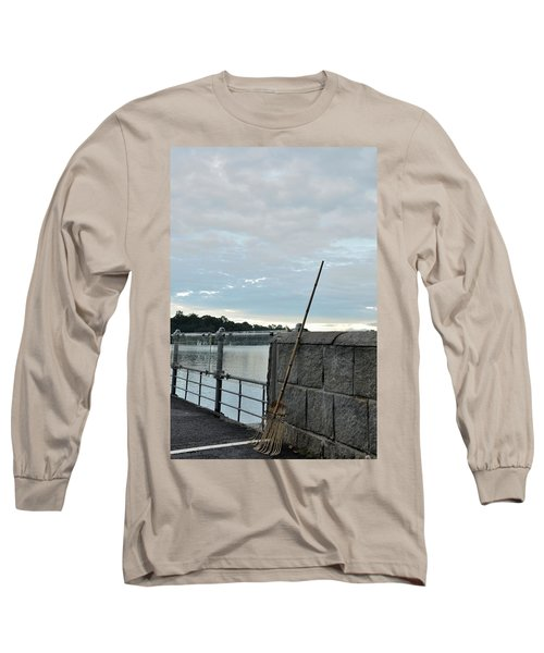 Long Sleeve T-Shirt featuring the photograph Rake Rests Itself After A Hard Days Work by Imran Ahmed