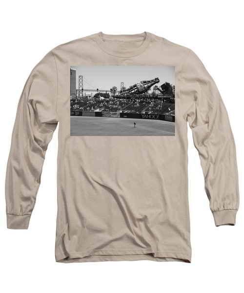 Raking The Lawn Long Sleeve T-Shirt by Eric Tressler