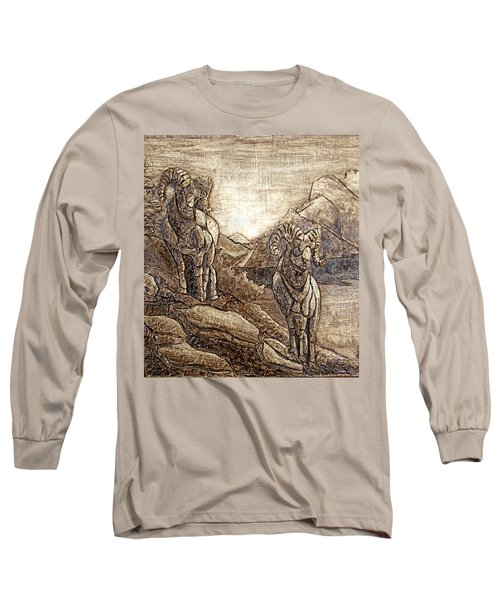 Rams Relief Long Sleeve T-Shirt by Wendy McKennon