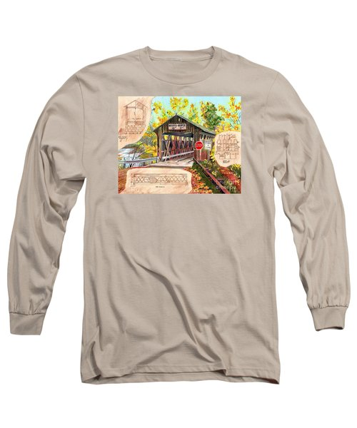 Long Sleeve T-Shirt featuring the painting Rebuild The Bridge by LeAnne Sowa