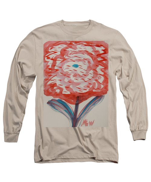 Red And Baby Blue Long Sleeve T-Shirt