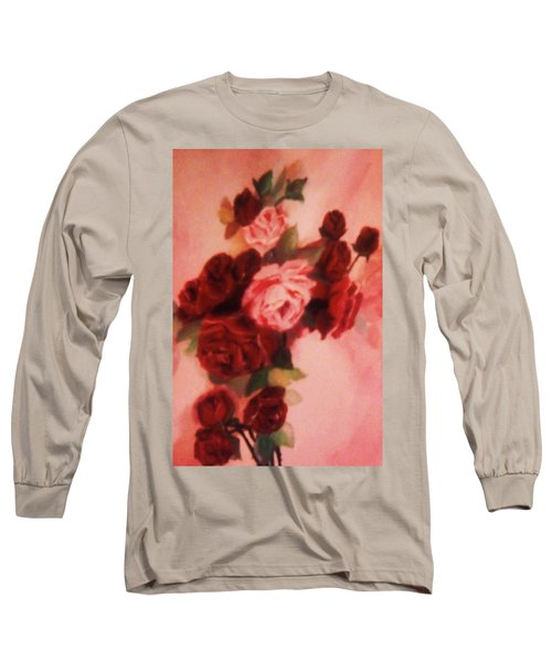 Red And Pink Roses Long Sleeve T-Shirt by Christy Saunders Church