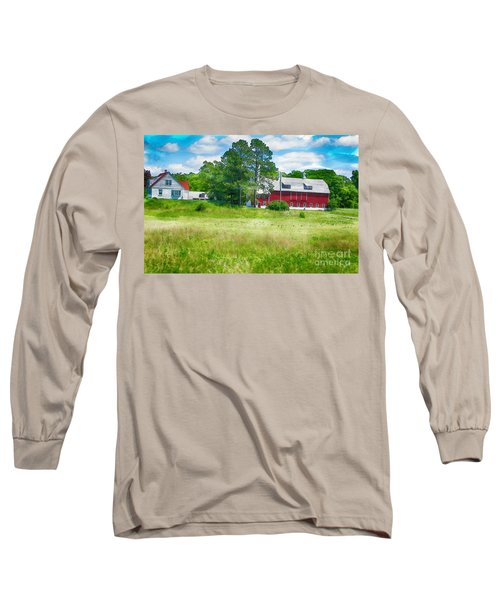 Red Barn Long Sleeve T-Shirt by Erika Weber