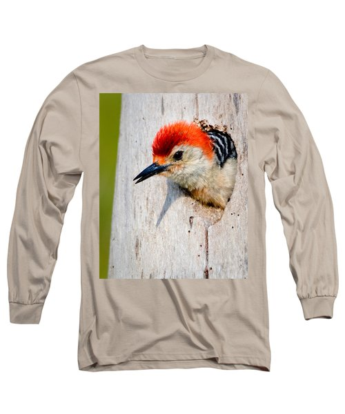 Red-bellied Woodpecker II Long Sleeve T-Shirt by William Beuther