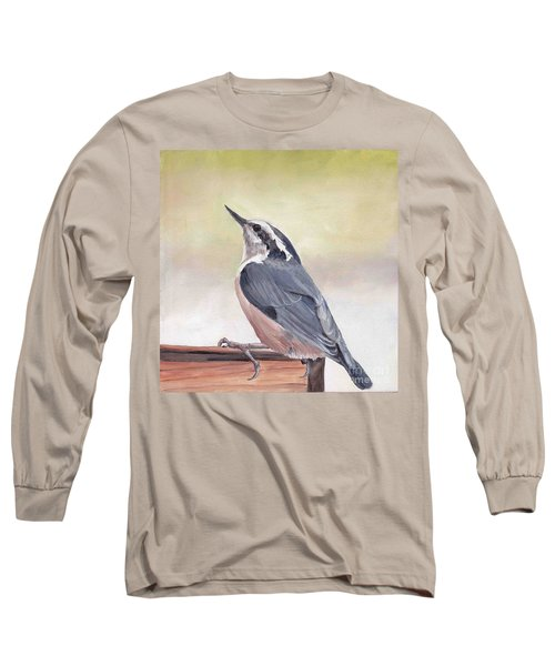 Red Breasted Nuthatch Long Sleeve T-Shirt