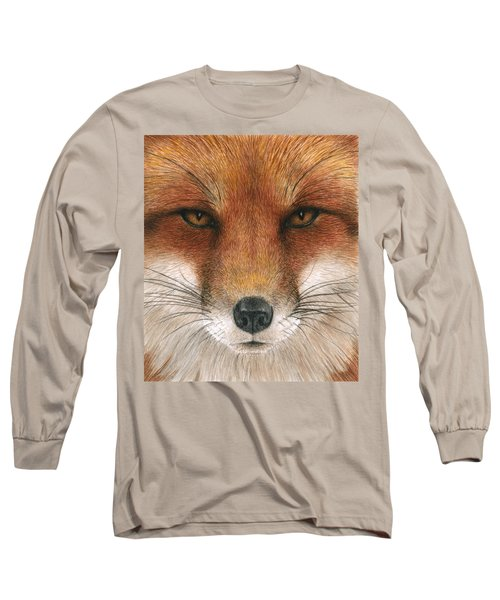 Red Fox Gaze Long Sleeve T-Shirt