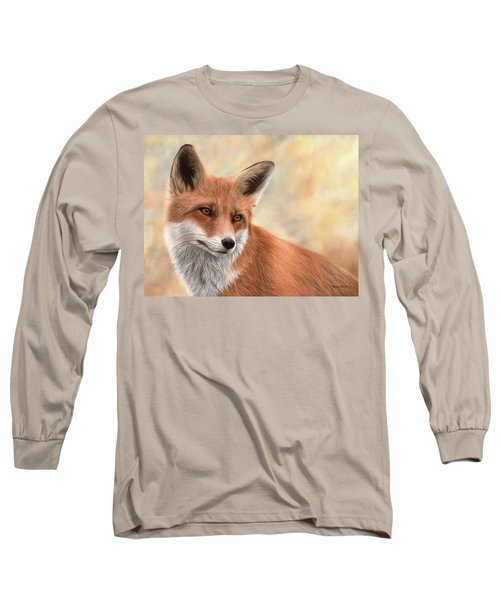 Red Fox Painting Long Sleeve T-Shirt
