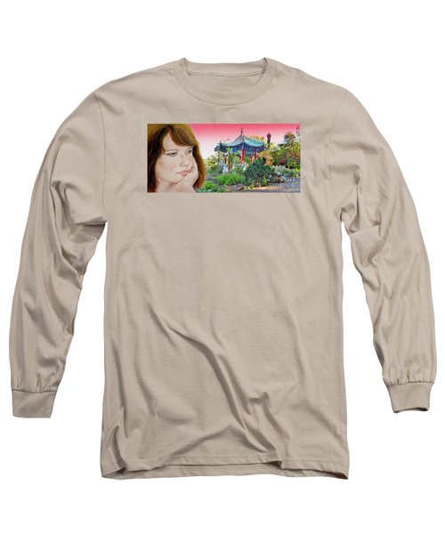 Red Hair And Freckled IIi Altered Version  Long Sleeve T-Shirt by Jim Fitzpatrick