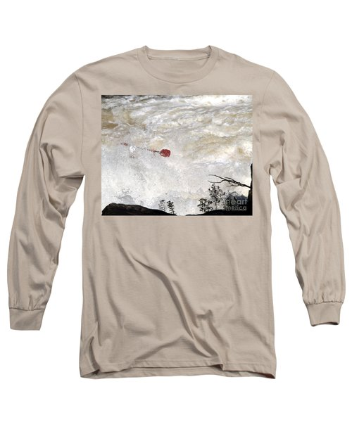Long Sleeve T-Shirt featuring the photograph Red Paddle by Carol Lynn Coronios