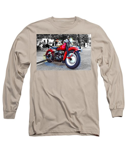 Red Rider On Black Long Sleeve T-Shirt