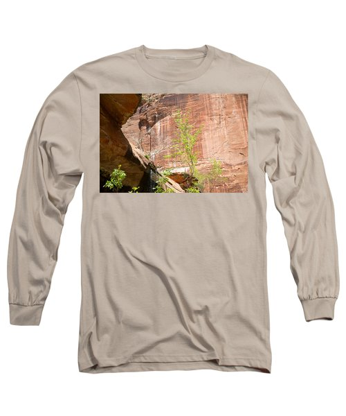Red Rock With Waterfall Long Sleeve T-Shirt