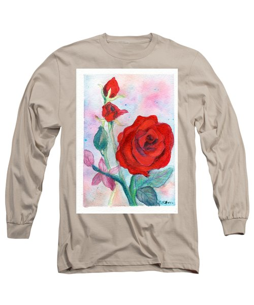 Red Roses Long Sleeve T-Shirt by C Sitton