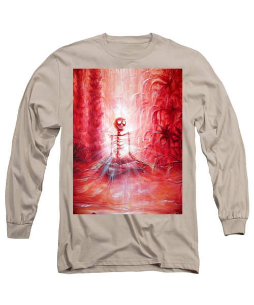 Red Skeleton Meditation Long Sleeve T-Shirt