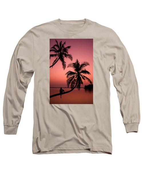 Red Sunset In The Tropics Long Sleeve T-Shirt