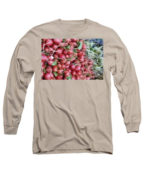 Red White And Blue At The Market Long Sleeve T-Shirt