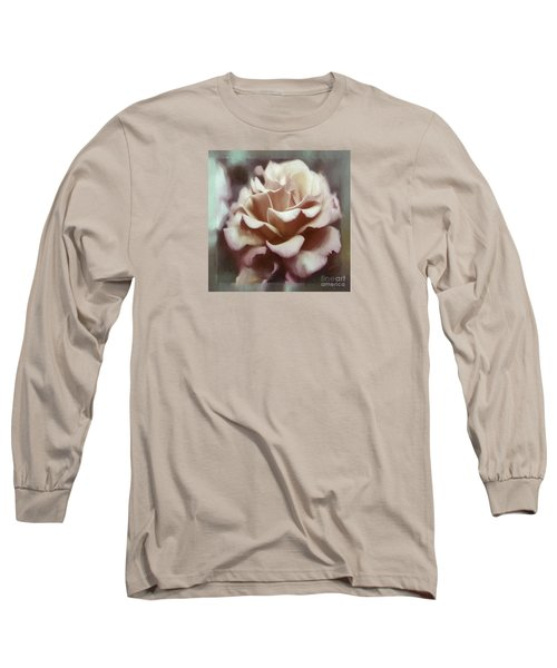 Long Sleeve T-Shirt featuring the photograph Red White Rose by Jean OKeeffe Macro Abundance Art