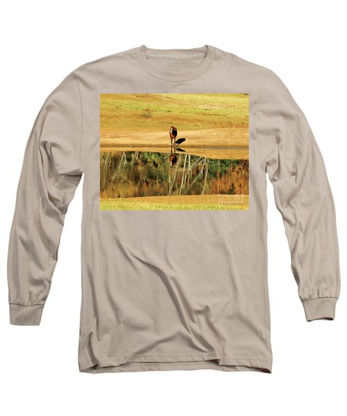 Reflection Long Sleeve T-Shirt by Carol Lynn Coronios