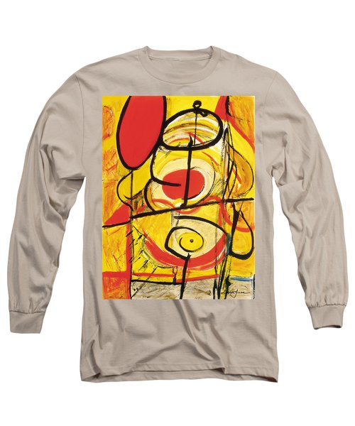 Long Sleeve T-Shirt featuring the painting Relativity 3 by Stephen Lucas