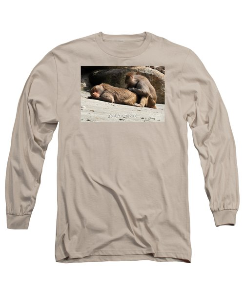 Long Sleeve T-Shirt featuring the photograph Relax Time by Simona Ghidini