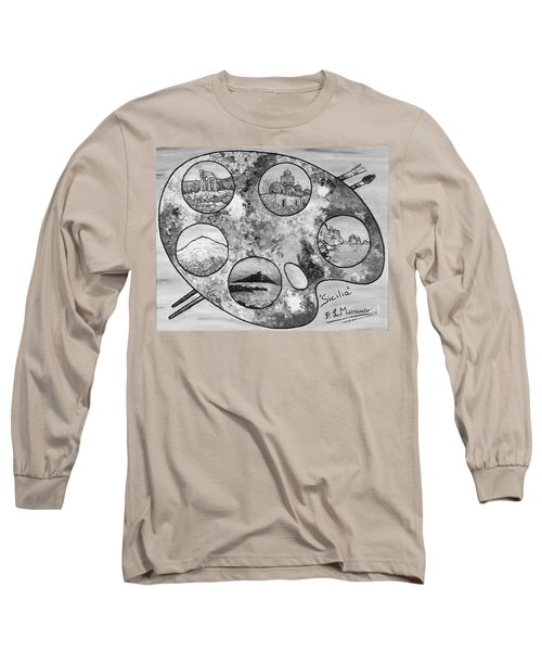 Long Sleeve T-Shirt featuring the painting Remembering Sicily by Loredana Messina