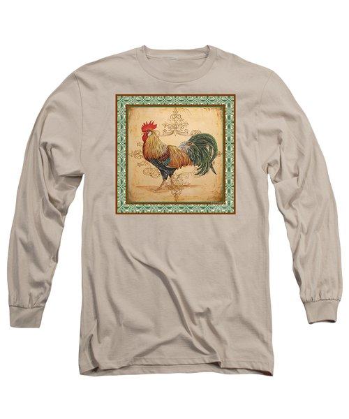Renaissance Rooster-a-green Long Sleeve T-Shirt