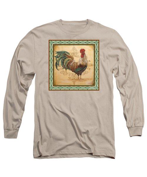 Renaissance Rooster-d-green Long Sleeve T-Shirt
