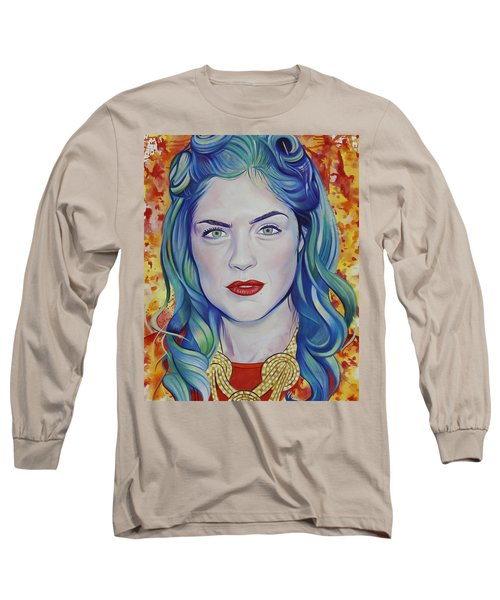 Long Sleeve T-Shirt featuring the painting Rene Taylor by Joshua Morton